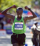 Geoffrey Mutai of Kenya Finishes First in Men&#039;s Division