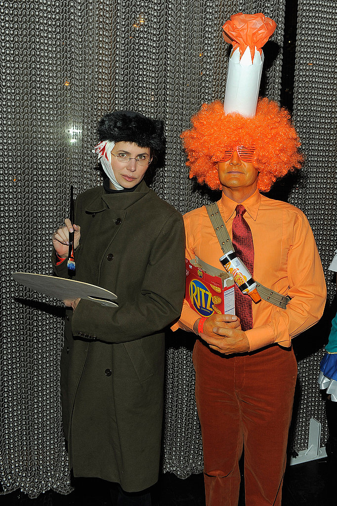 Kyle MacLachlan wore orange while Desiree Gruber went as Van Gough.