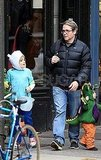 Matthew Broderick and James Wilkie Broderick were on the hunt for candy on Halloween.