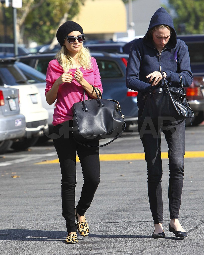 Nicole Richie with a friend in LA.