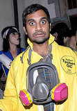Aziz Ansari wore a hazmat mask on Halloween in 2011.