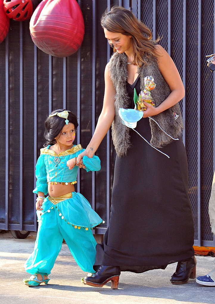 Jessica Alba and Honor Warren on Halloween.