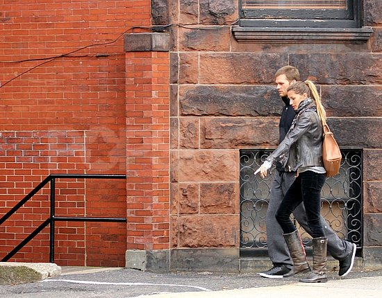 Gisele Bundchen and Tom Brady walked together in Boston.