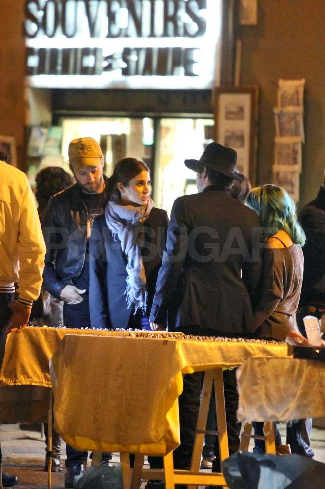 Nikki Reed and Paul McDonald hang out in Rome with Jackson Rathbone.