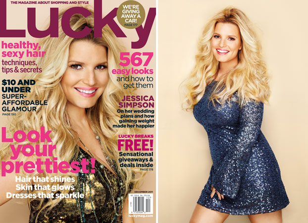 "Jessica Simpson Talks Wedding Plans, Weight Gain, and ""Styling America"" in Lucky"