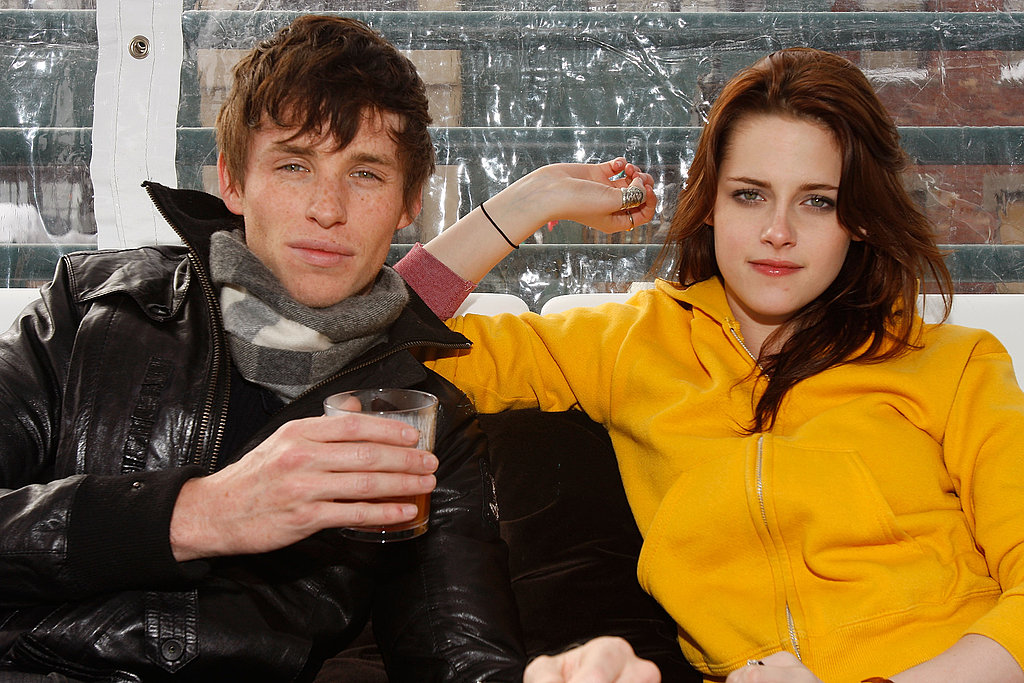 Yellow Handkerchief costars Eddie Redmayne and Kristen Stewart hung out in Park City, UT, in 2008.