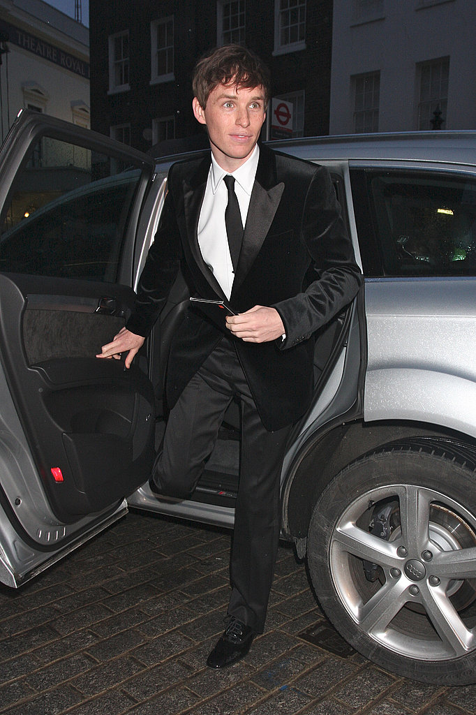 Eddie looked like James Bond exiting his car.