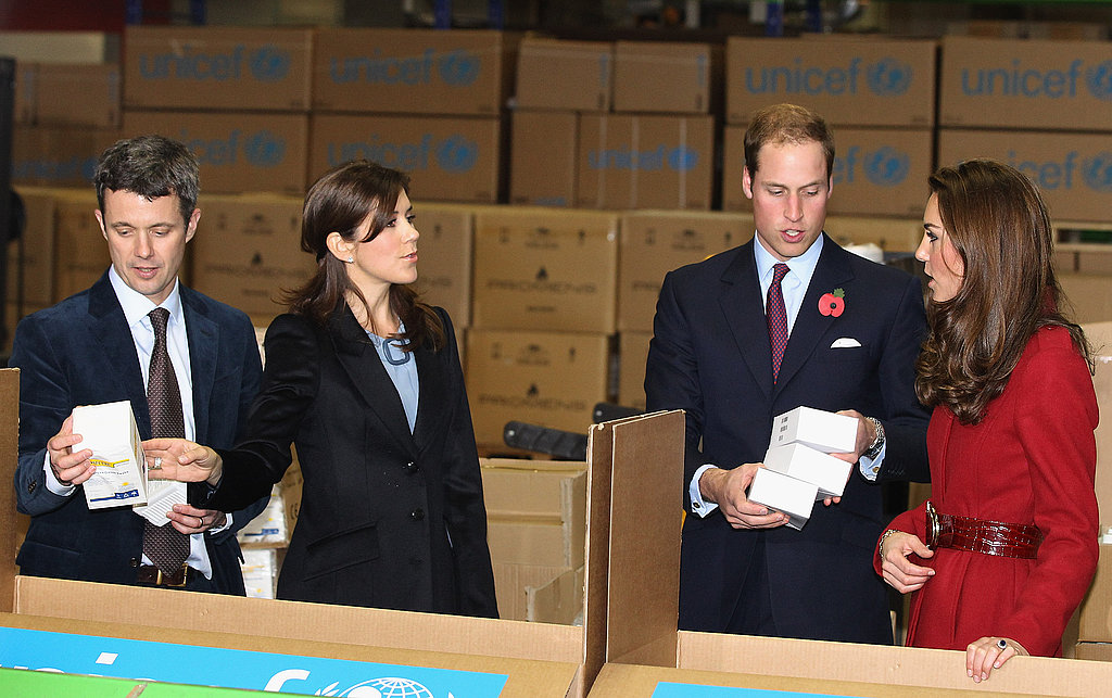 Princess Mary and Prince Frederick welcomed Kate Middleton and Prince William to Denmark.