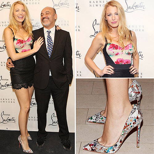 Pictures of Blake Lively and Christian Louboutin at the Shoe Designer's Book Launch: Read Our Interview With Him!