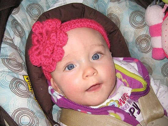Ruffle Flower Headband Crochet Pattern ($4)
