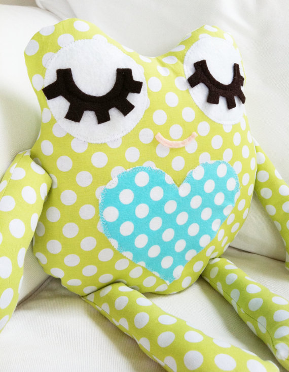 Frog Pillow Toy Sewing Pattern ($10)