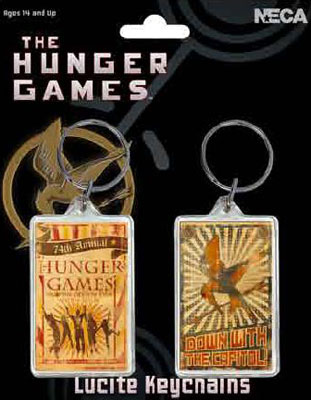 The Hunger Games Lucite Keychain Two-Pack ($4)