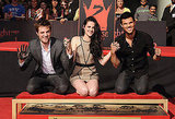 Kristen Stewart, Robert Pattinson, and Taylor Lautner showed their cement-covered hands.