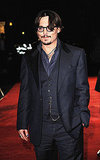 Johnny Depp wasn't without his glasses at the London debut.