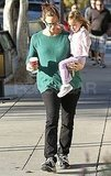 Jennifer Garner carries Seraphina Affleck in LA.