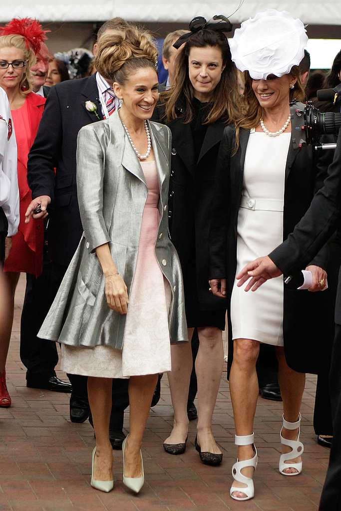 Sarah Jessica Parker made her way to the Crown Oaks Day in Melbourne.
