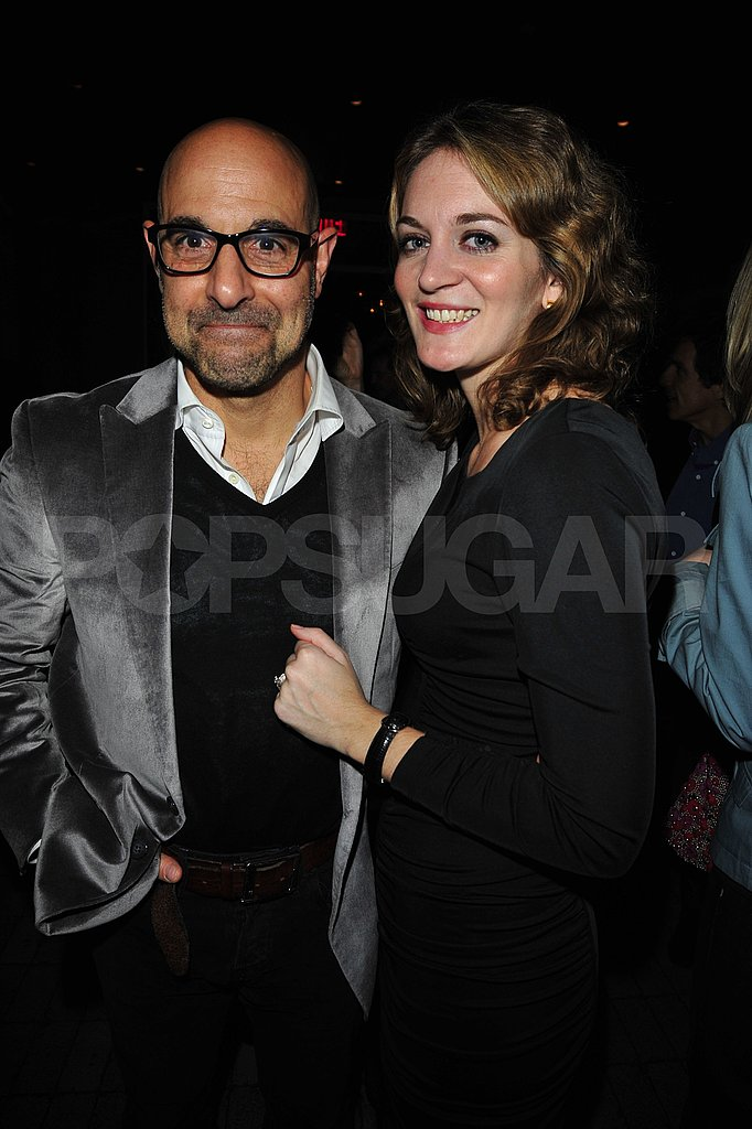 Stanley Tucci with fiancée Felicity Blunt, the older sister of Emily Blunt.