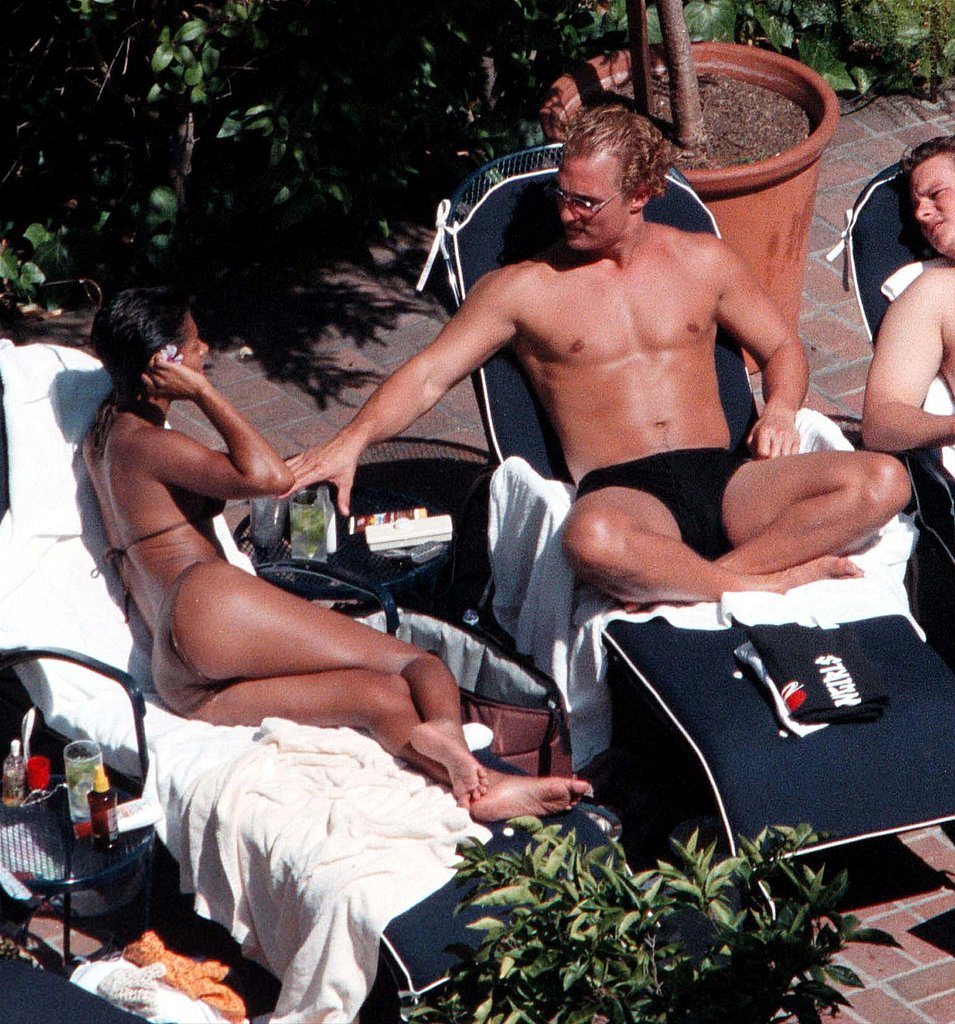 Matthew McConaughey got cozy with then-girlfriend Salli Richardson while hanging poolside in 2000.