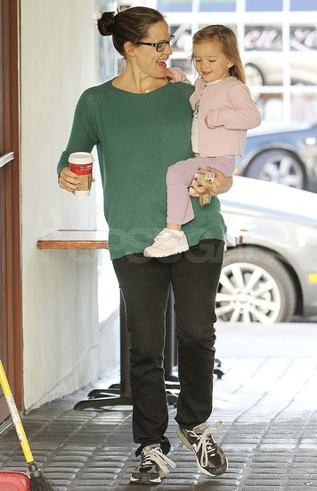 Jennifer Garner and Seraphina Affleck get coffee in LA.