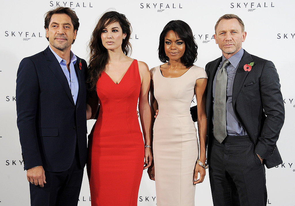 Javier Bardem, Daniel Craig, Naomie Harris and Berenice Marlohe in London for Skyfall.