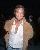 Matthew McConaughey flaunted his bare chest at the May 1996 premiere of Norma Jean & Marilyn in LA.