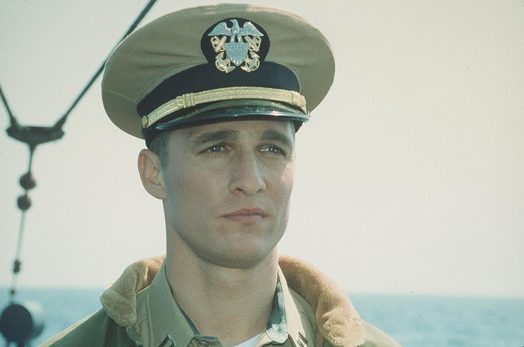 Matthew McConaughey was fresh-faced in his 2000 movie, U-571.