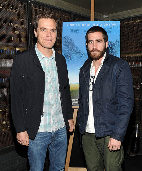 Jake Gyllenhaal and Michael Shannon promoted Take Shelter in NYC.