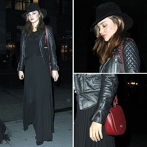 Celeb Style: Miranda Kerr&#039;s Edgy Chic Out-to-Dinner Look