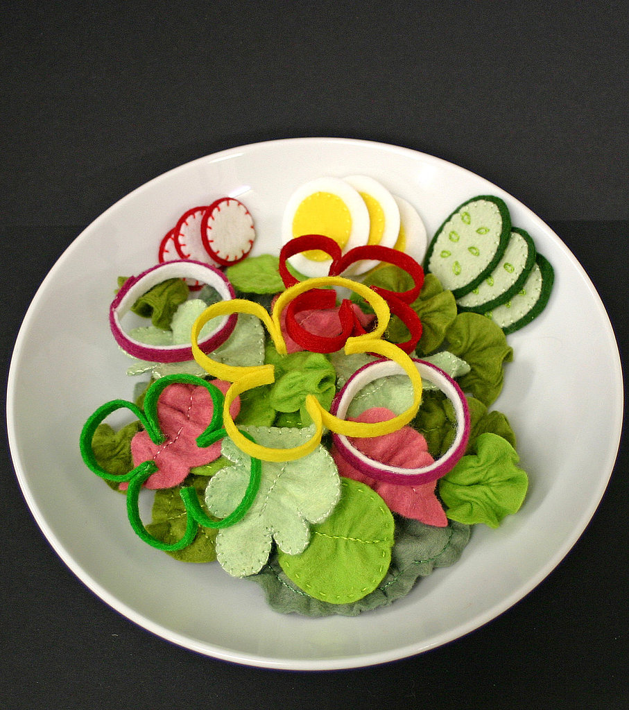 Wool Felt Play Food: Salad