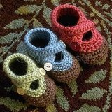 Double Strap Baby Booties Crochet Pattern ($6)