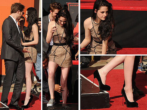 See Pictures of Twilight Star Kristen Stewart in Nude Marios Schwab Dress at Hand and Foot Ceremony, From All Angles!
