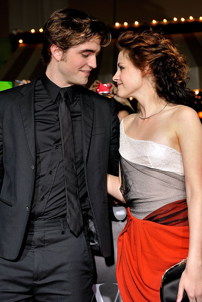 Robert Pattinson and Kristen Stewart looked lovingly at each other for another Twilight premiere in 2008.