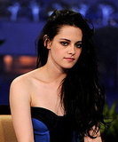 Kristen Stewart in a strapless Monique Lhuillier dress.