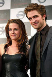 Robert Pattinson and Kristen Stewart were together for a 2009 press conference in Tokyo.