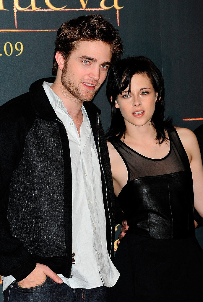 Robert Pattinson and Kristen Stewart attended a photocall for New Moon in Spain in November 2009.