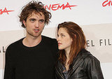 Robert Pattinson and Kristen Stewart attended a photocall at the Rome International Film Festival in 2008.