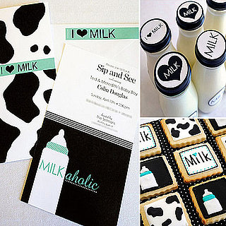 A Coed Milk and Cookies-Themed Baby Shower