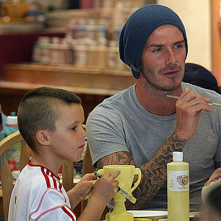David Beckham and Sons at Color Me Mine Pictures