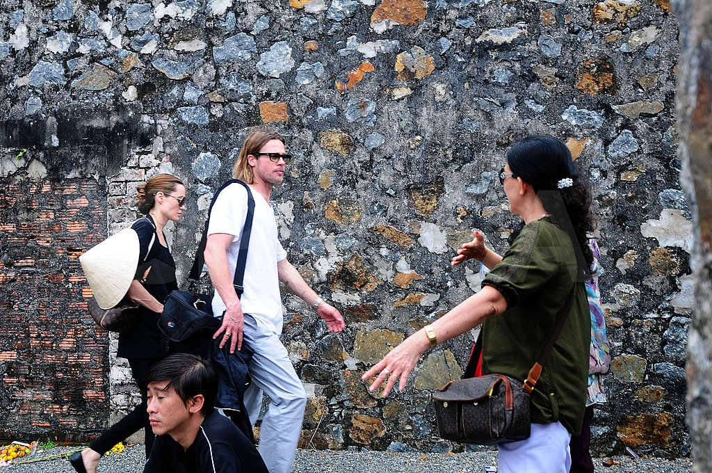 Brad Pitt and Angelina Jolie did some sight-seeing in Vietnam.