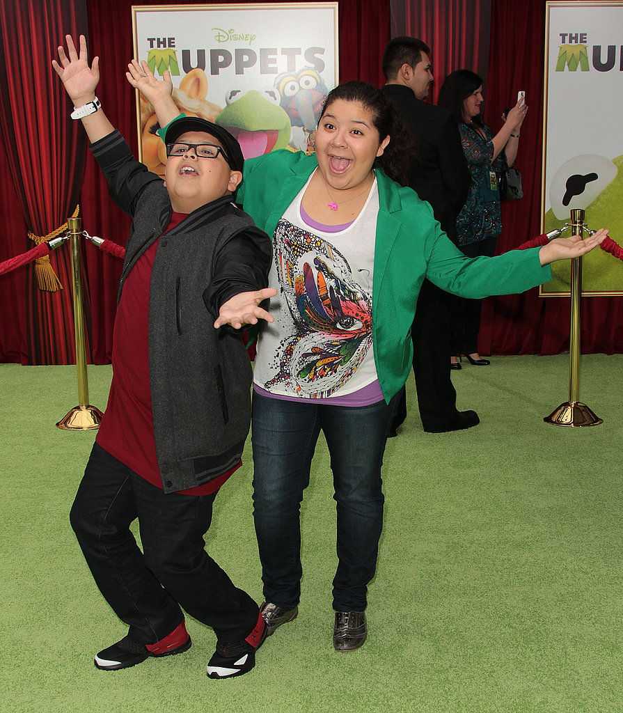 Rico and Raina Rodriguez got silly for photographers.