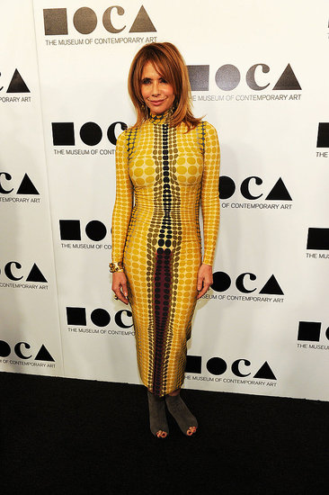 Rosanna Arquette wore a bright yellow look to the 2011 MOCA Gala.
