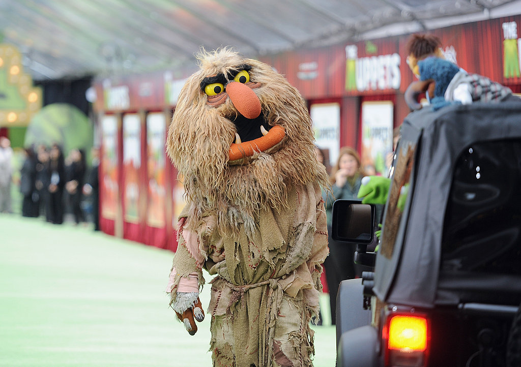 Sweetums led the parade of characters down the carpet.