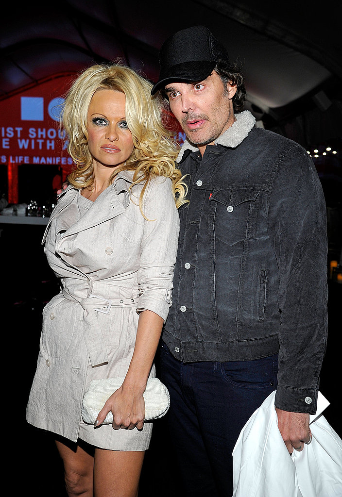 Pamela Anderson and phtographer David LaChapelle hung out at the 2011 MOCA Gala.