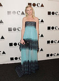Kirsten Dunst's dress was black and blue for the MOCA Gala.