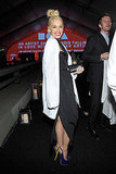Gwen Stefani readied for the evening's events in a lab coat.