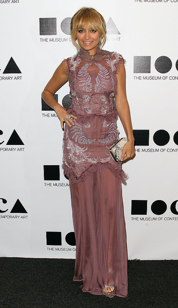 Nicole Richie was gorgeous in mauve.
