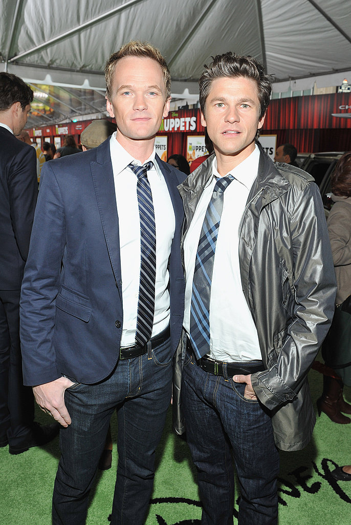 David Burtka joined Neil Patrick Harris on the green carpet for photos.