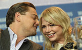 Leonardo DiCaprio laughed with Michelle Williams at a press conference for Shutter Island in February 2010.