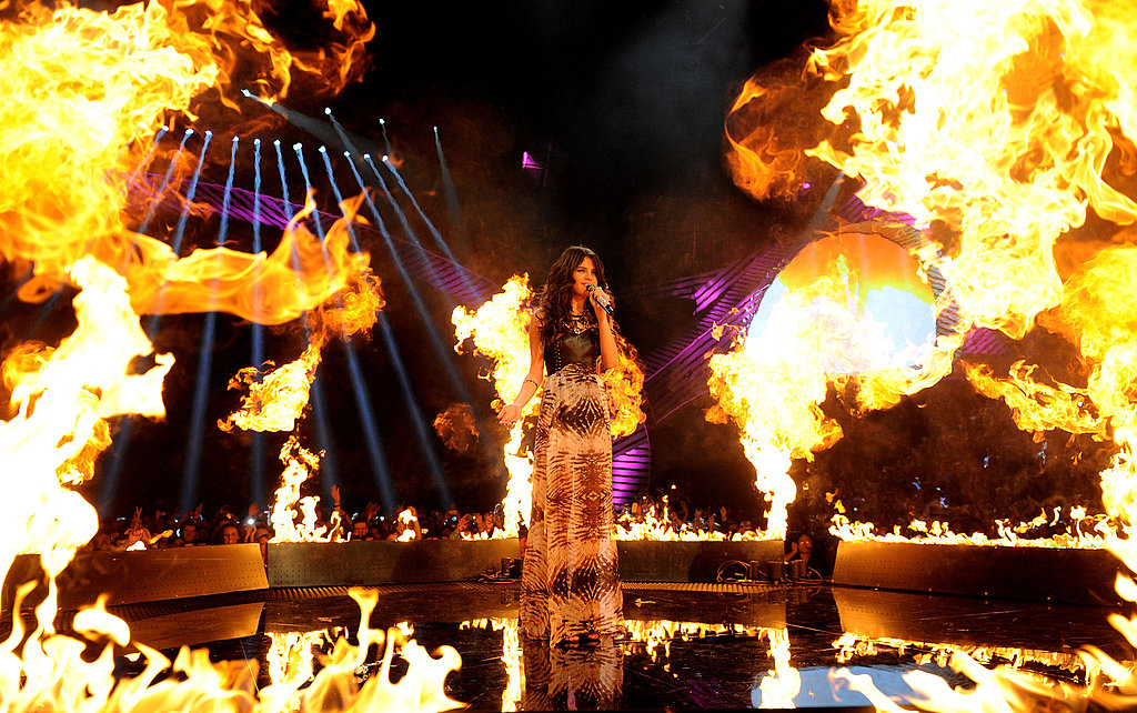 Selena Gomez was fired up for her entrance.