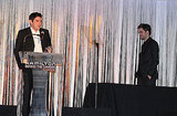 Robert Pattinson was welcomed on stage at the Hamilton Behind the Camera Awards.